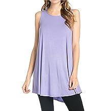 Honeystore Women Summer Sleeveless Casual Loose T-Shirt Tank Top Dress