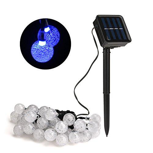 Solar String Lights Indoor : Outdoor Solar String Light garland 30LED Fairy String Lights Bubble Crystal Ball Lights ...