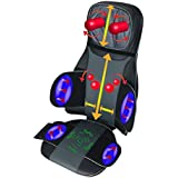 ObboMed SU-5990 (Stock Clearance) Neck, Shoulder, Back Massage Chair Seat with Heat, Vibration, 3D Shiatsu Spots, Air Pressure on Waist & Bottom, Deep Kneading, Rolling, Vibrating Massager
