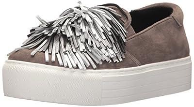 Kenneth Cole New York Women's Jayson Slip On Platform Sneaker Pom Su Fashion