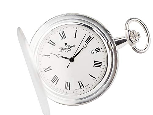 (Pierre Laurent Swiss Made Sterling Silver Quartz Pocket Watch)