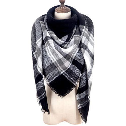 - MissShorthair Warm Plaid Blanket Scarf Large Square Tartan Checked Shawl Wrap