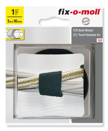 Fix-O-Moll Technic 5 M X 30 mm Klett-Binder Black, 3563070 by Fix-O-Moll