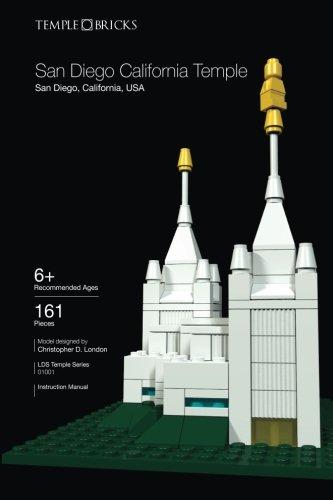 Temple Bricks: San Diego California Temple: Construction Toy Building Instructions (LDS Temple Series) (Volume -