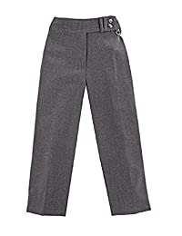 Girls School Uniform Two Button Heart Attachment Slim Fit Trouser Age 2-16 Years