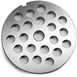 """TSM #32 Stainless Steel 1/2"""" Meat Grinder Plate"""