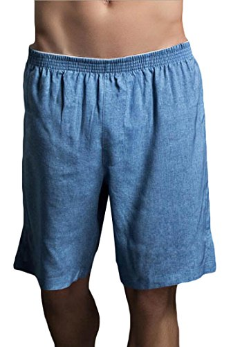 Top ainr Men's Linen Cotton Sport Pajama Boxer Shorts supplier