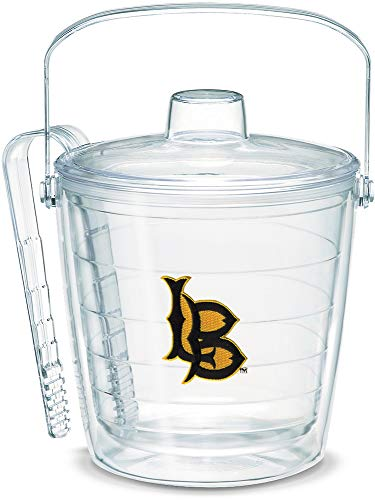 Tervis 1053357 Cal State Long Beach Logo Ice Bucket with Emblem and Clear Lid 87oz Ice Bucket, Clear