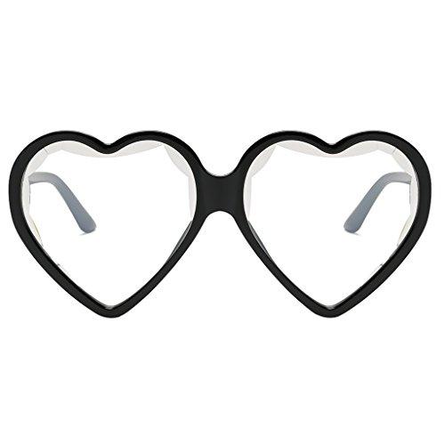 de Rojo Gafa Eyewear para Baoblaze Sunglasses Colores Corazón Retro de Hombre Mujer Marco Plástico Forma Claro de Aviador Sol T6wPxd6zq