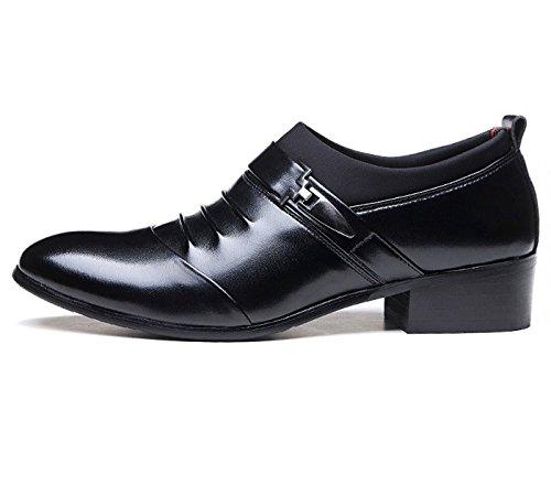 Gaorui neue Mode Herren Berufsschuhe für Berufsanzüge Hochzeit Schuhe klassischer britischer Stil schwarz braun Schwarz