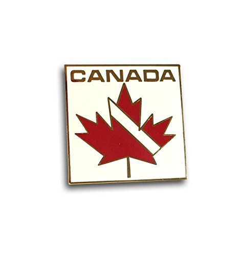Canada Scuba Diving Flag Maple Leaf Collectible Pin Diving Enameled Brooch for (Enameled Leaf Pin)