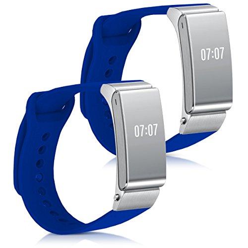 kwmobile 2en1: 2x sport bracelet remplaçant pour Huawei Talkband B2 en couleur souhaitée - bracelet en silicone avec fermoir sans tracker