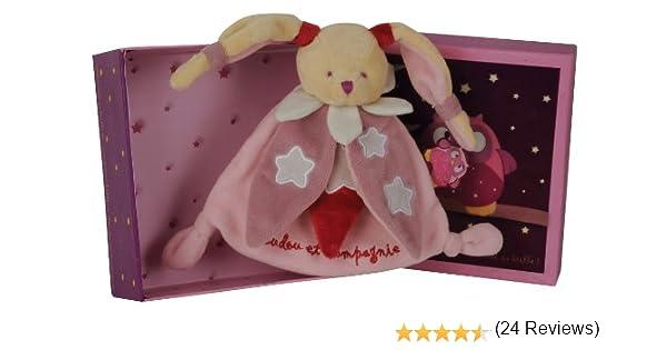 Doudou et Compagnie DC2147 color rosa Mantita de arrullo luminiscente