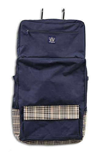 Kensington Deluxe All Around Tack Carry Bag, Navy Plaid, One Size Deluxe Tack