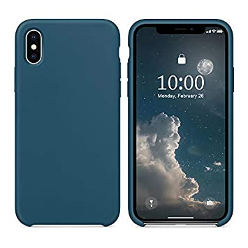 coque iphone xs max silicone bleu