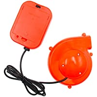 TOLOCO -Inflatable clothing fan | Mini blower | Small battery powered blower (orange)