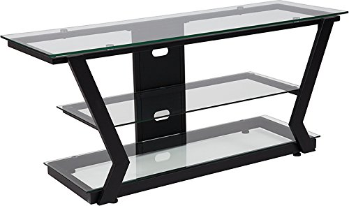 Amazoncom Contemporary Modern Design Sleek Glass Tv Stand With