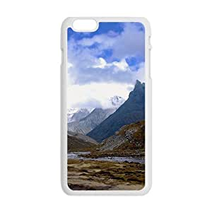 Blue Clouds Sky And Mountains Hight Quality Protective Case for Iphone 6plus