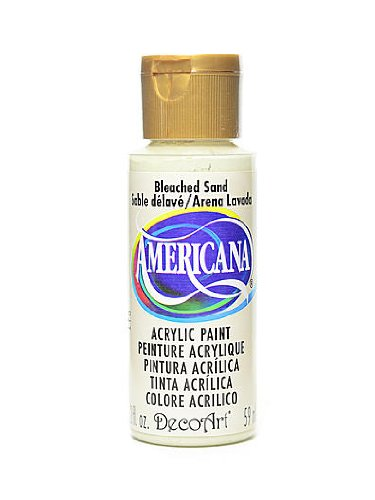 DecoArt Americana Acrylic Paints bleached sand 2 oz. [PACK OF 8 ]