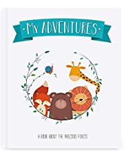 Itty Bitty Gifts Baby Book Cute Scrapbook - Photo Album - Baby Memory Book - Record Milestones and Adventures for First 5 Years - Perfect Expecting Mother and Baby Shower Gift for Boys and Girls