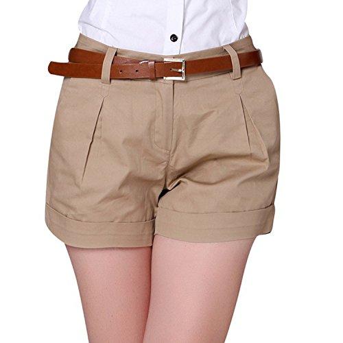 Memoriesed Korea Summer Woman Cotton Shorts Size S-3XL Design Lady Casual Short,Khaki,XL