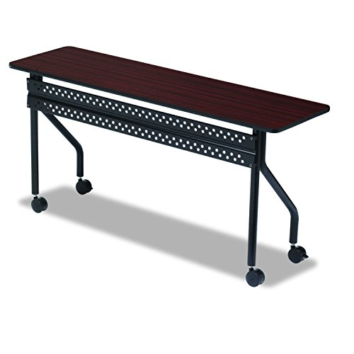 Training Room Table (Iceberg ICE68068 OfficeWorks Mobile Training Table with Black Legs, Melamine Laminate, 72