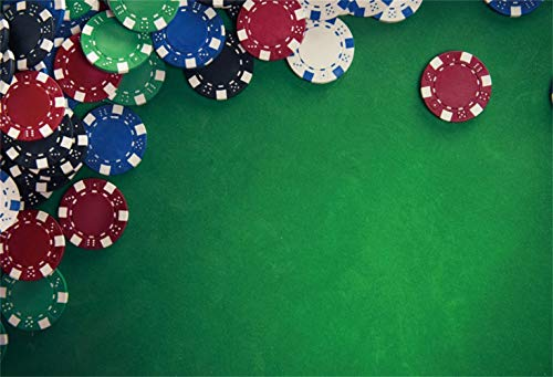 Yeele Las Vegas Theme Backdrop Casino Chips on Gaming Table Photography Backdrop Club Event Decoration 5x3ft Birthday Party Banner Business Gambling Decor Photo Booth Photoshoot Studio Props