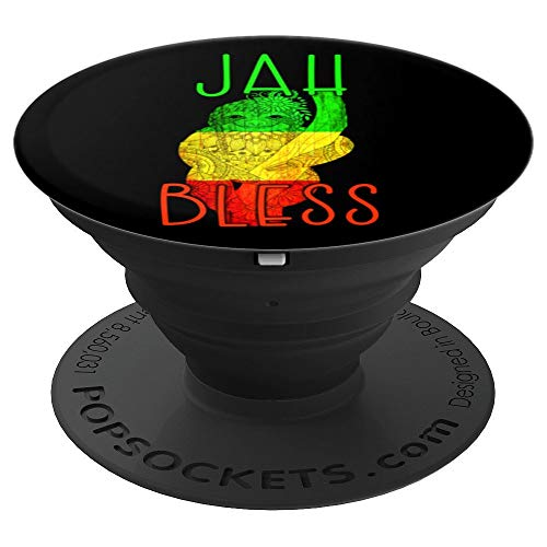 Rasta Animal Sloth Quote Rastafari Green Yellow Red PopSockets Grip and Stand for Phones and Tablets