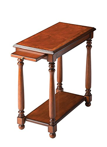 (Offex Accent Olive Ash Burl Chairside Table - Medium Brown)