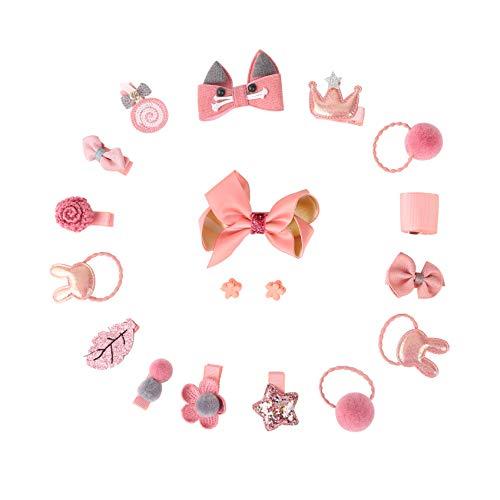 (Joan Nunu 18 Pcs Baby Girls Ribbon Hair Bow Clips Hair Accessories Bows Barrettes Hairpins)