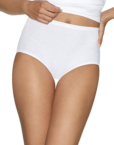 Hanes Ultimate Womens Cotton Comfort Ultra Soft Brief, White, 7