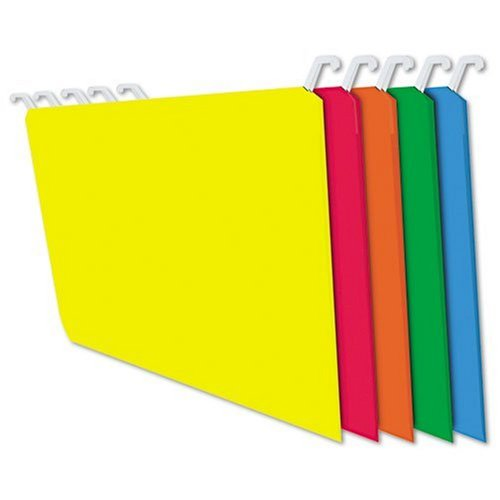 Folders with Innovative Top Rail, 9 Point Stock, Letter Size, Assorted, 20 per Pack (FT07034) ()