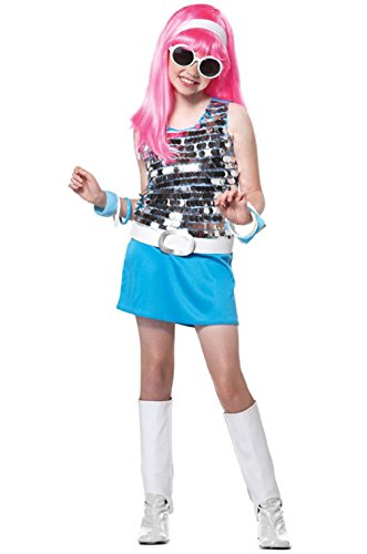 Child Leopard Rock Star Girl Costumes (Rock Star Go Go Girl Dancing Disco Child Costume)