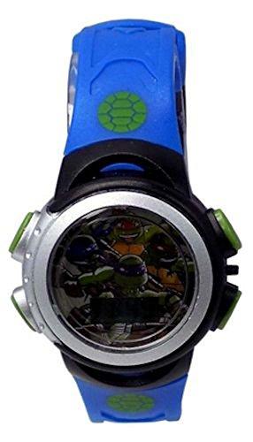 Nickelodeon Teenage Mutant Ninja Turtles Flashing Lights Kid's LCD Watch black/blue (Ninja Turtle Blue)