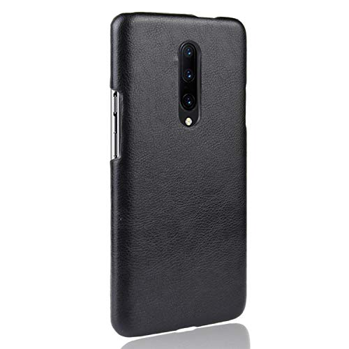 for Oneplus 7 Pro Case Hard Pc Leather Phone Case for Oneplus 7 Pro One Plus 7 1+7 Case,Black,for Oneplus 7