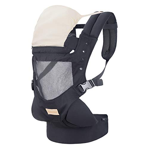 Best Prices! Baby Carrier with Adjustable Hip Seat,Baby Wrap Carrier with Hood, Soft & Breathable Ba...