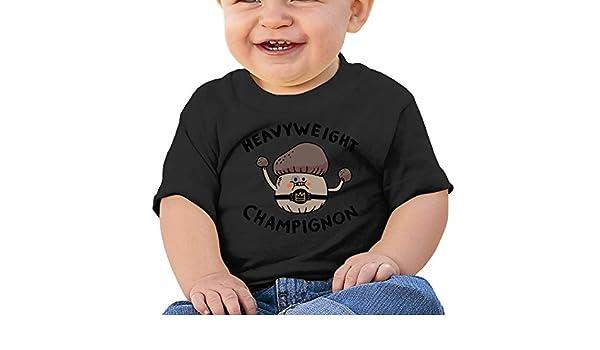 Heavyweight Champignon Toddler Short-Sleeve Tee for Boy Girl Infant Kids T-Shirt On Newborn 6-18 Months