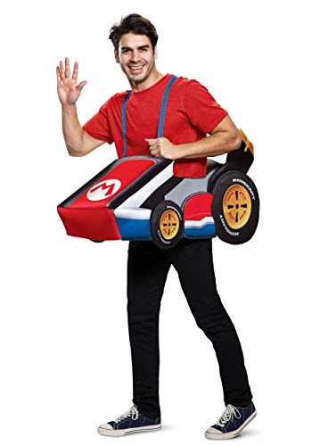 Disguise Men's Mario Kart Adult Costume, red, One Size