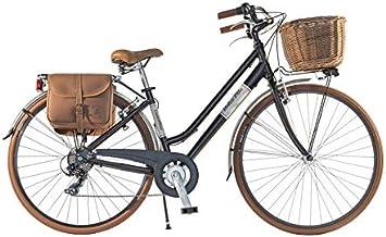 Canellini Via Veneto by Bicicleta Bici Citybike CTB Mujer Vintage Dolce Vita Aluminio Black Matt Negro (43): Amazon.es: Deportes y aire libre