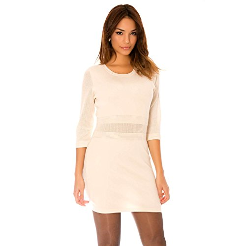 Miss Wear Line - Robe beige très tendance en tricot