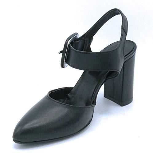 E1650 Nero Cuoio Scarpa Sandalo 36 Colore Taglia Pelle Yrs44 Riccianera Yf7b6gyv
