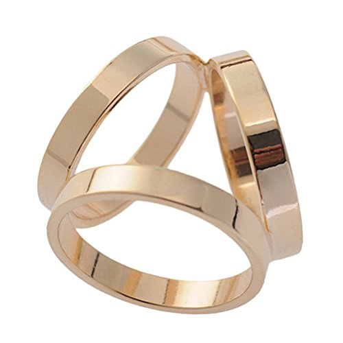 Buckle Fashion Ring (S&E Fashion Three-ring Scarf Buckle Scarf Rings Scarf Clips for Woman,Various Color (Gold))