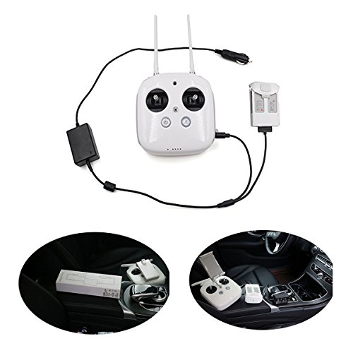 DJI Phantom 4 Accessories Car Charger for Battery Intelligent 17.5V 4A Outdoor Charging