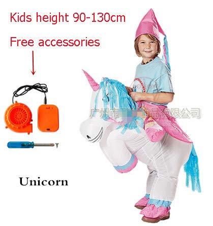 oferta de tienda Unicorn Kids Hiswill Disfraces niños Adultos Adultos Adultos Fan 2018 Inflable Gorila Sumo Caballo Vaquero Uni One Talla  costo real