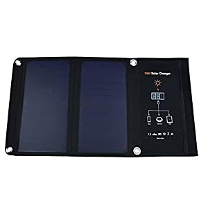 Solar Panels Dual USB Portable Folding Power Bank 15W 2500mA Peak Current Waterproof Solar Charger for Mobile Phones