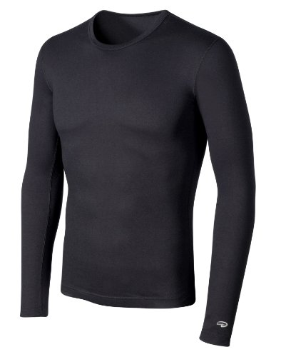 Duofold Men's Big-Tall Mid Weight Crew Thermal Top, Black, (Duofold Long Sleeve Long Underwear)