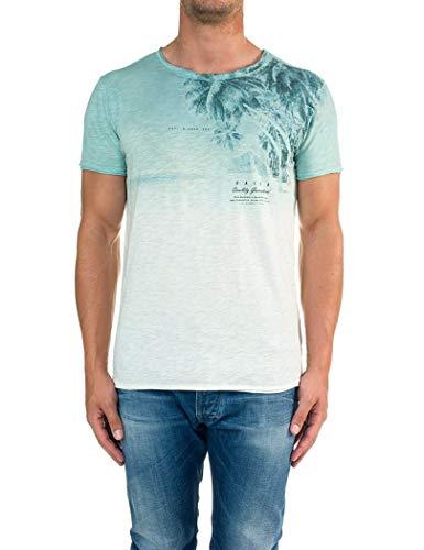 Salsa Jeans - Camiseta hombre manga corta SALSA JEANS - M, Verde