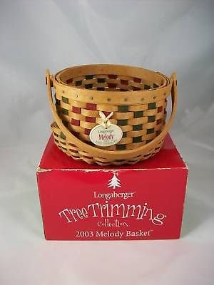 Longaberger 2003 Melody Tree Trimming Basket w Tie On