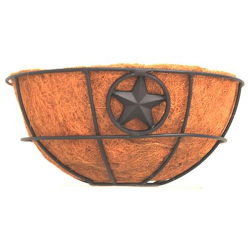 American Garden Works AMHB Americana Collection Star Hanging Basket with Coco Liner, 14