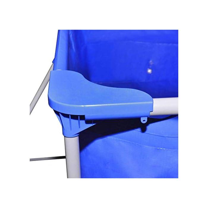 41v lFQ5yWL Estructura de acero lacado de larga duración. Pared de piscina reforzada con tejido de poliéster. Color: azul